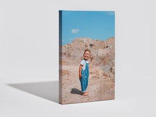 A canvas print with a photo border wrap.